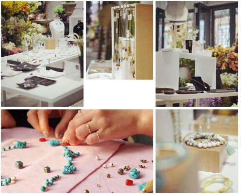 Handmade Ibiza Boheme Freundschaftsarmband mini Quaste Pink