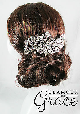 Eliza Vintage wedding silver bridal comb hair accessories headpiece RRP $100