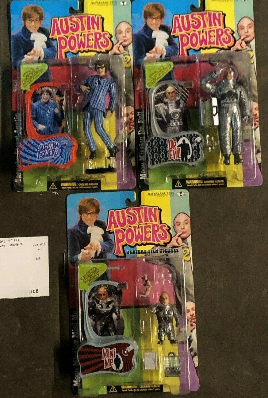 Lot Of 3x McFarlane Toys Action Figure - Austin Powers Series 2 DrL.Evil Mini Me
