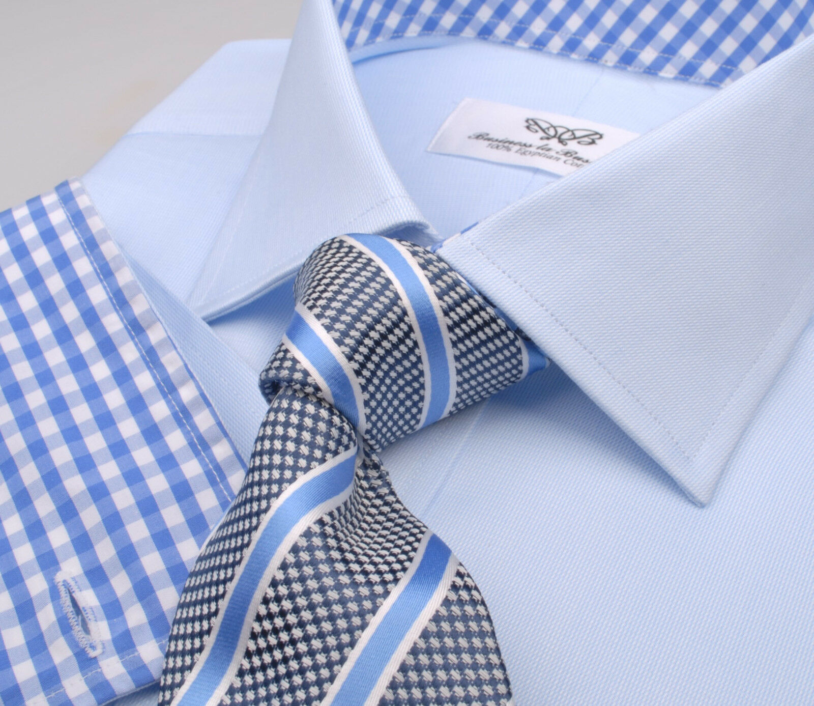 Blau Royal Oxford Dress Shirt Formal Geschäft Sexy Stylish Luxury Boss Fashion
