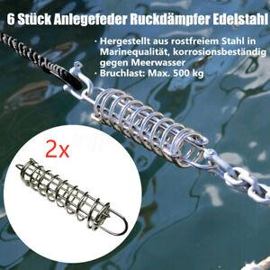 Anlegefeder-Edelstahl-Ruckdaempfer-Feder-Festmacher-Boot-Zugdaempfer-Sportboot