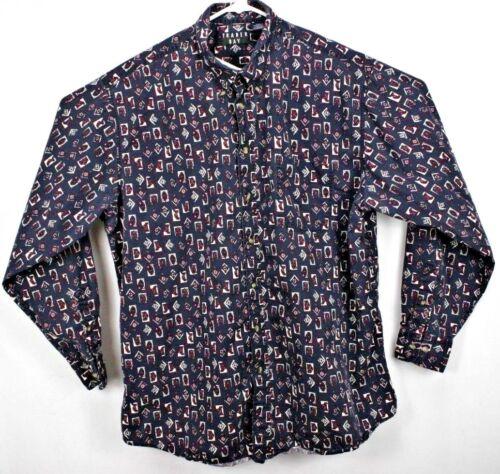 Trader Bay Men's Shirt XLT L/S Button Down Blue wi