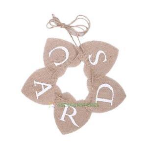 CARDS-Hessian-Bunting-Banner-Rustic-Burlap-Hearts-Hanging-Sign-Wedding-Decor