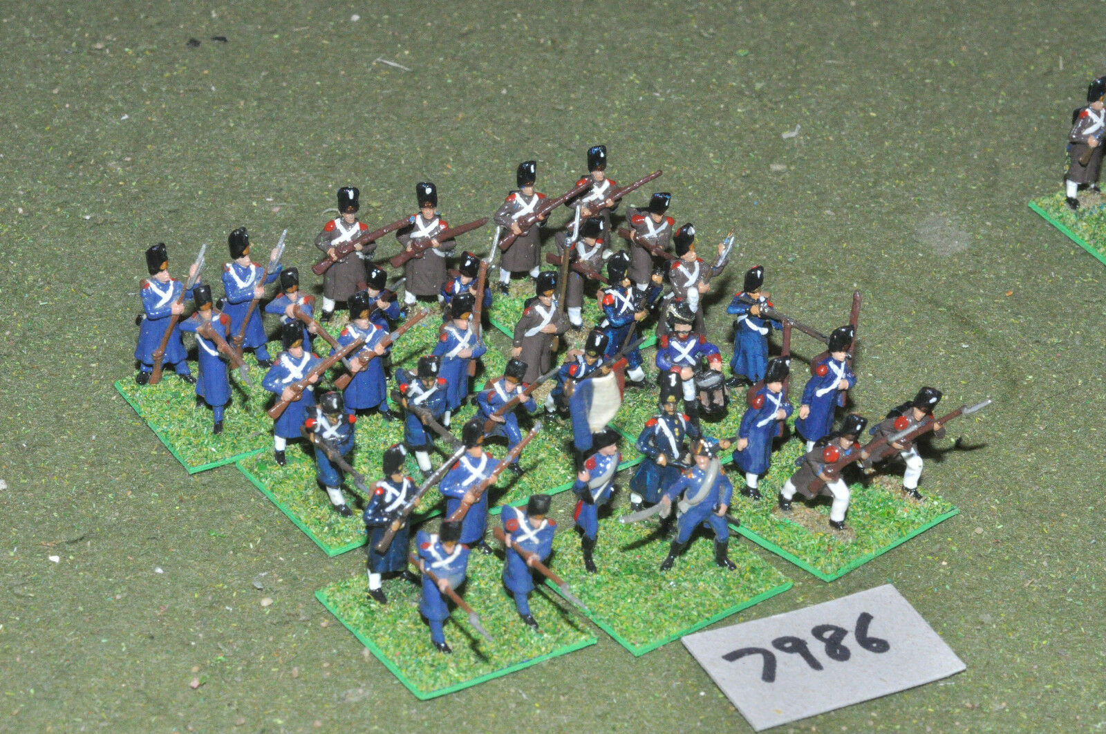 20mm napoleonic   french - old guard 35 figs painted plastic - inf (7986)