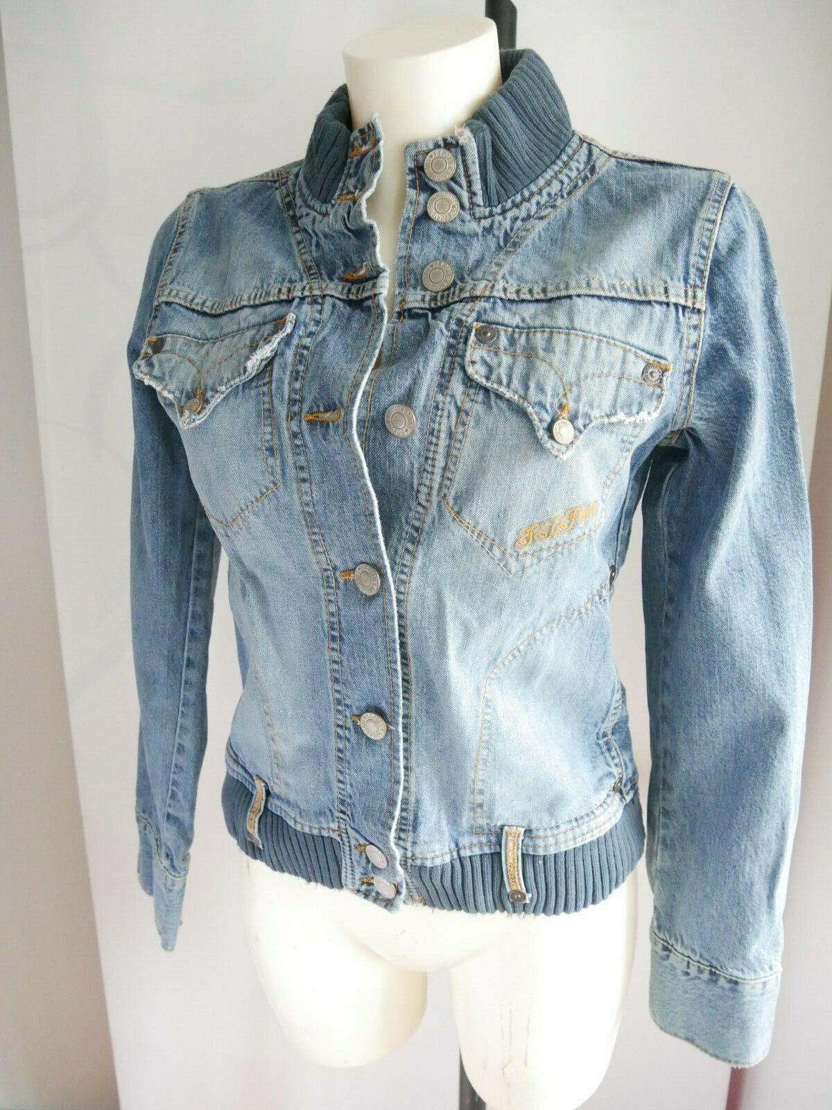 FREEMAN T PORTER Blouson jeans veste size L modèle happy blue valeur
