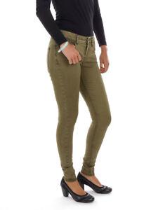 O-039-Neill-Pantaloni-di-tessuto-chino-verde-Skinny-Vintage-5-TASCHE-Elastica