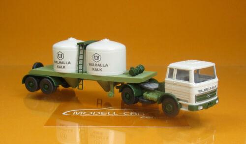 Wiking 053403 MB 1620 Chemikaliensattelzug Walhalla Kalk Scale 1 87