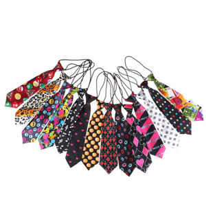 Satin-colore-collier-cravate-pour-les-enfants-de-mariage-garcons-ecole-liens-I