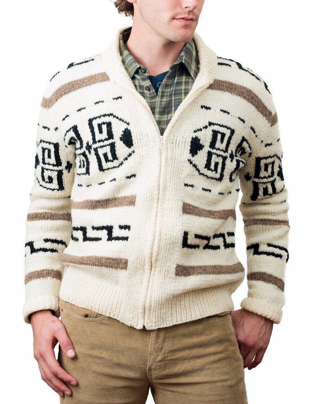 Big Lebowski Dude Sweater hand knit cardigan wool sweater Men's S, M, L, XL, 2XL
