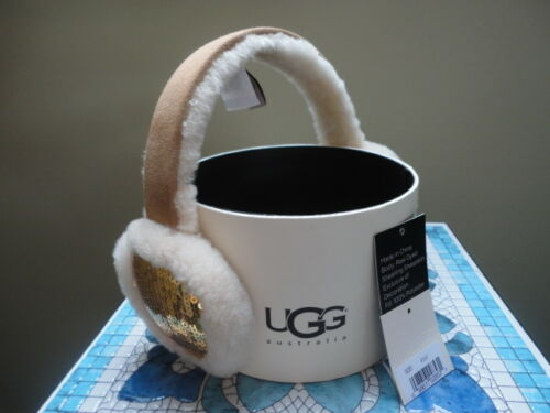 UGG  Ear Muffs   Chestnut with Gold Sequins