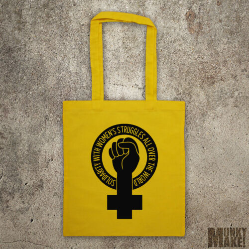 feminist tote bag SOLIDARITY with Women/'s struggles feminism protest eco