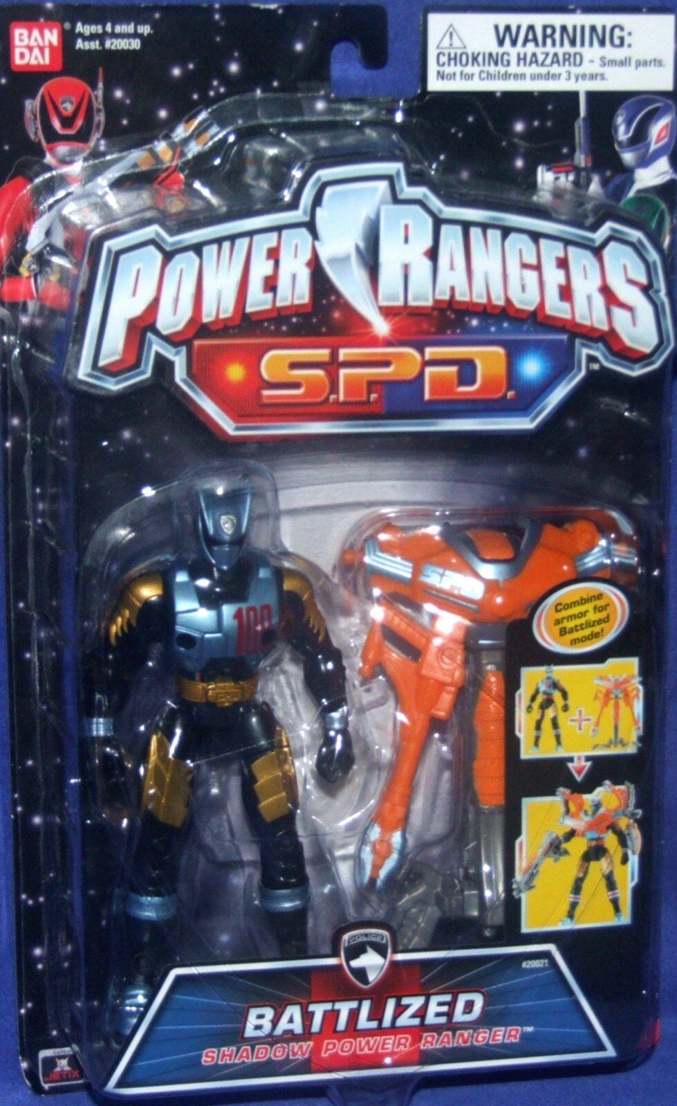Power Rangers 6  SPD SHADOW BATTLIZED Power Ranger Nuovo Factory Sealed 2005