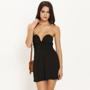 7c9999cc07c0 Details about Women s Sexy Strap or Strapless Black Beach Summer Party Dress  Size 10 ❤Aus❤