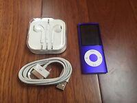 Apple iPod nano 4th Generation Purple (16GB) Excellent Condition