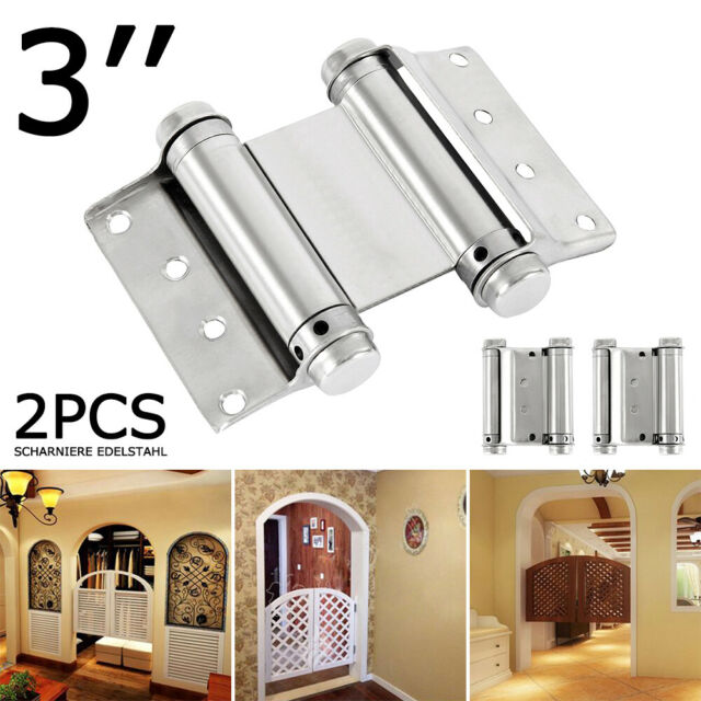3'' 2PCS Double Action Spring Hinges Stainless Steel for Saloon Cafe Swing Doors