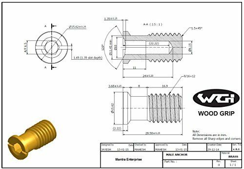 Wood Grip® Wood Deck Brass Anchor for Pool Safety Cover 10 Pack