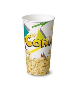 500pz-BICCHIERE-POP-CORN-Monouso-700ml-8-5cm-x-h-17cm-Porta-Pop-Corn-NUOVI