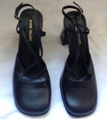 River Island para mujer zapatos negros. Talla 5 Reino Unido
