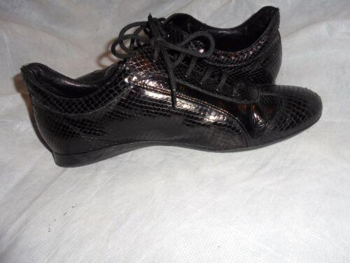 noire taille 39 6 serpent Escada pour Eu peau UK femmes de à Vgc chaussures en peau lacets de qUFwz7q