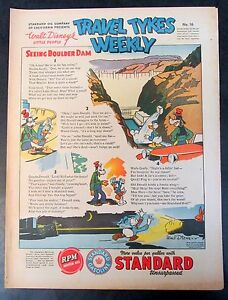 1939 Disney TRAVEL TYKES WEEKLY #16 Standard Oil premium. higher grade
