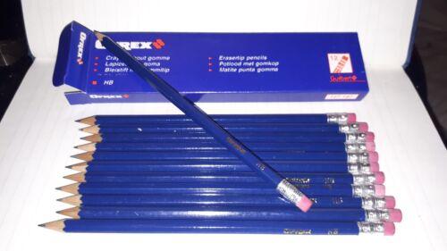 Vintage 1980s Pack of 12 Guilbert OFREX HB Erasertip Pencils// Rubber Tip Pencils