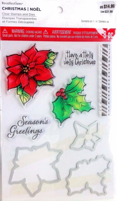 Christmas Flower and Sentiments Recollections Stamp Set