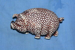 VERY-RARE-FIGURAL-Stippled-Celluloid-PiG-w-clover-TAPE-MEASURE