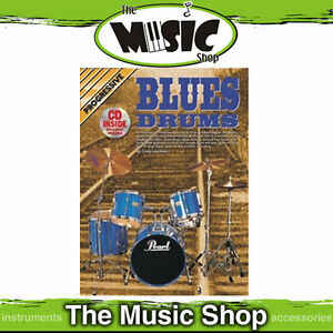 Details about New Progressive Blues Drums Music Book & CD Package by Craig  Lauritsen - Tuition