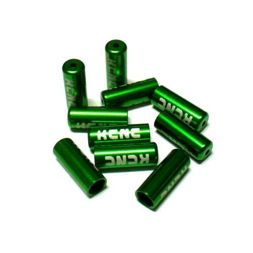 10 pieces 4mm N18 gobike88 KCNC Shift Housing Open End Caps Green