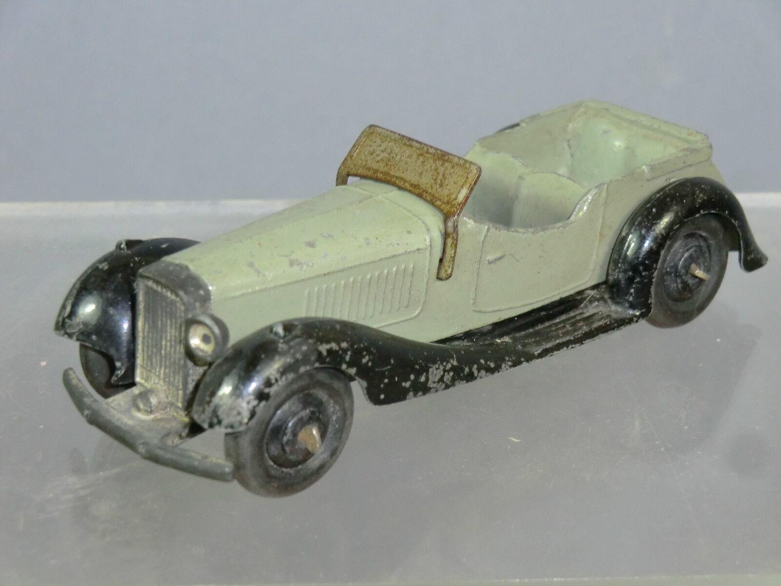 DINKY modello No.36e di British SALMSON-posti auto sportiva  grigio verdastro VERSIONE