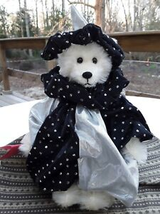 Harlequin Costumed Girl Artist Bear McElwain Designer Signed '90 Excel. Conditon