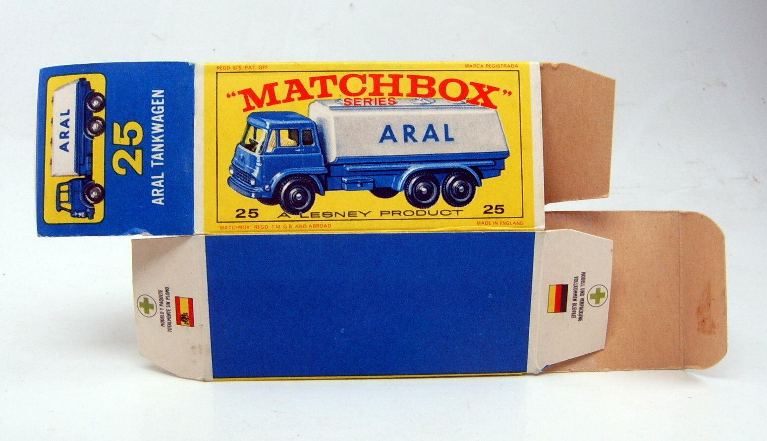 Matchbox Rw 25C Bedford Tanker empty original   E2  ARAL box  gros prix discount