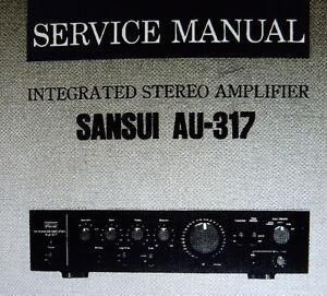 sansui au 317 int stereo amp service manual inc schem diag printed rh ebay com sg Review Sansui AU 417 Sansui AU 317 Integrated Amp