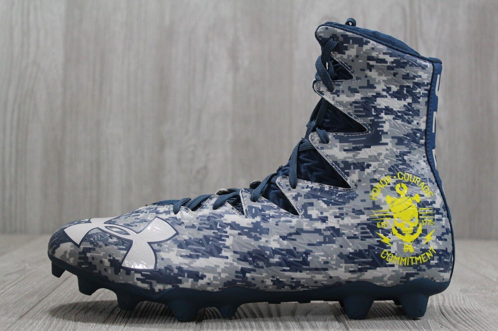 36 para hombre Debajo de armadura UA resaltar Mc Botines De Fútbol 1269693 Navy 10 - 12