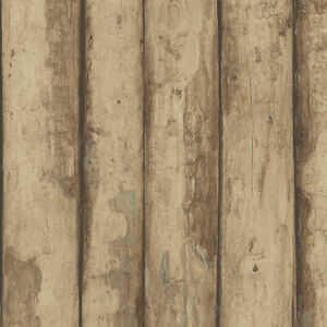Details About Norwall Fh37536 Log Cabin Prepasted Wallpaper Brown Raw Sienna Amber Cedar
