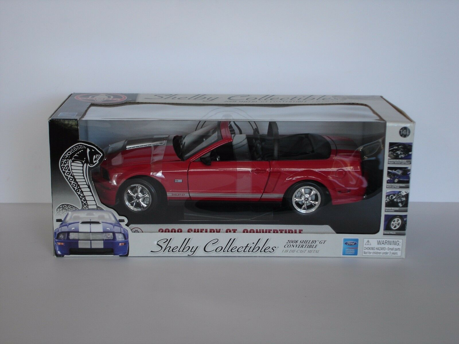2008 shelby gt cabrio, rot - 1   18 - shelby collectibles   revell (09083)