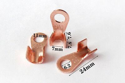 20pcs 6mm OT 30A Dia Copper Circular Splice Terminal L4