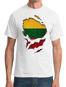 f87d1c48e476 Lithuania Lithuanian Ripped Effect Under Shirt - Mens T-Shirt   eBay