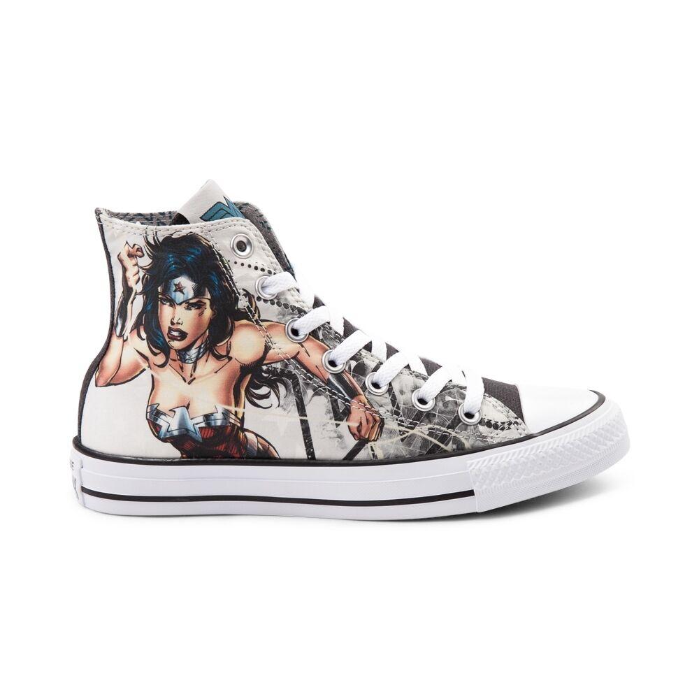 NEW PRINT Converse Chuck Taylor All Star Hi Wonder Wonder Wonder Woman DC Sneaker White shoes 7a8c02