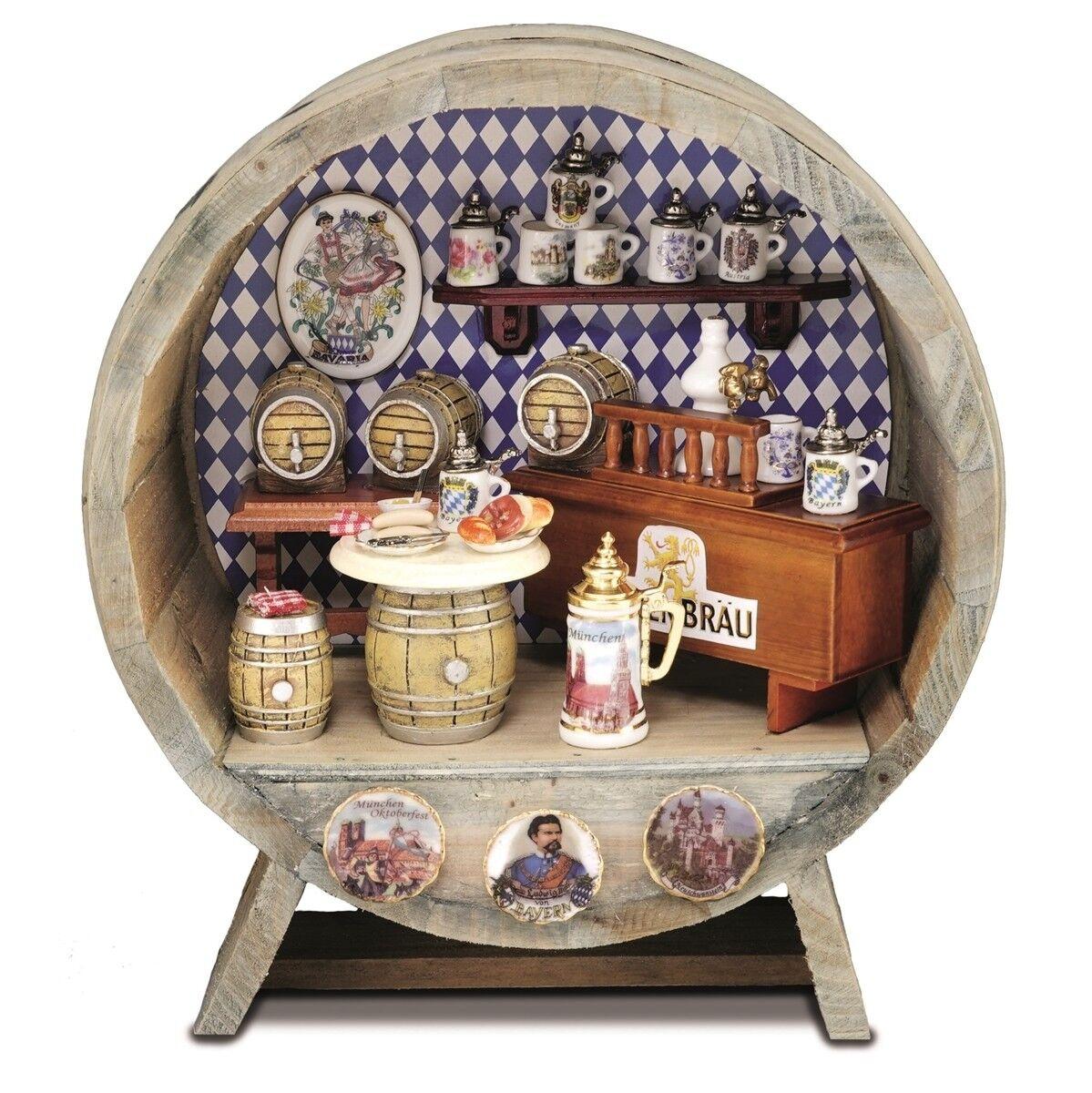 Reutter Porzellan Brauhaus im Fass   Brewery Barrel Puppenstube 1 12 Art 1.729 5  | Das hochwertigste Material
