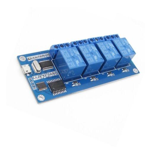 MICRO USB 5V 4-Channel Relay Module USB Control Relay Module serial port K9