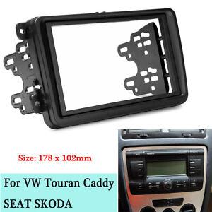 2-Din-Car-Stereo-Radio-Fascia-Panel-FramE-For-VW-Touran-SEAT-SKODA-Fabia-Octavia