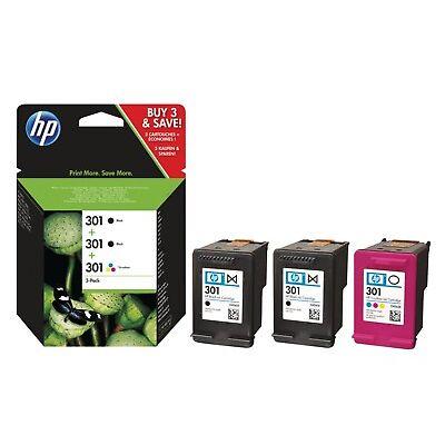 2x Original HP 301 Black & 1x Colour Ink Cartridge For ENVY 5530 Printer