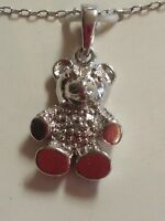 Sterling Silver Pendant Necklace Marcasite Teddy Bear Ross Simons