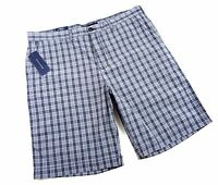 Tommy Hilfiger Shorts Classic Fit Plaid Sizes 36 38 Gray Dark Shadow Golf Chinos
