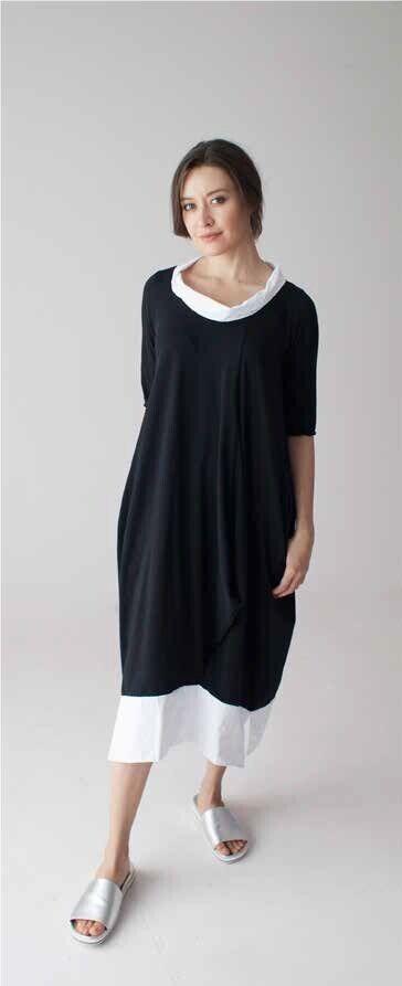 Beautiful LUUKAA size6 US14 Lagenlook Stylish NIKKI DRESS orig.