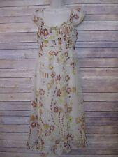 PRADA Silk Floral Print Sleeveless Dress Sz 44 US 8/10 ***FLAWED, see desc.***
