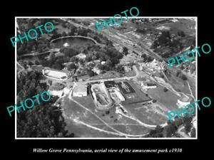 OLD-LARGE-HISTORIC-PHOTO-OF-WILLOW-GROVE-PENNSYLVANIA-THE-AMUSEMENT-PARK-c1930-2