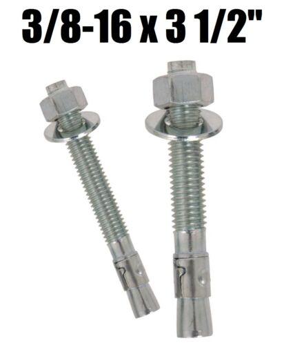 "3//8-16 x 3 1//2/"" Concrete Wedge Anchor Zinc Plated Qty 1,000"