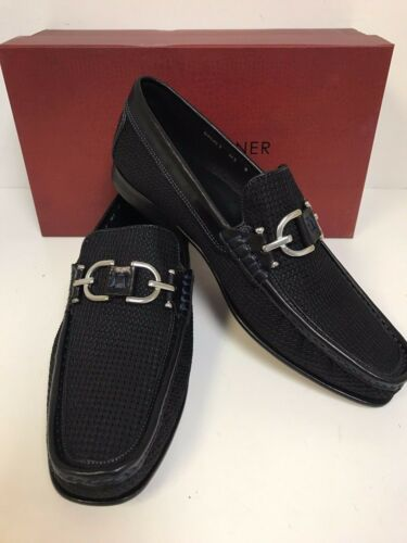 Donald J Pliner Dacio2-M3 Black Mesh Loafers with Bit Made in Italy